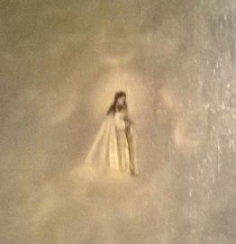 Detalle del óleo de Nuestra Señora del Mar de Mamariga