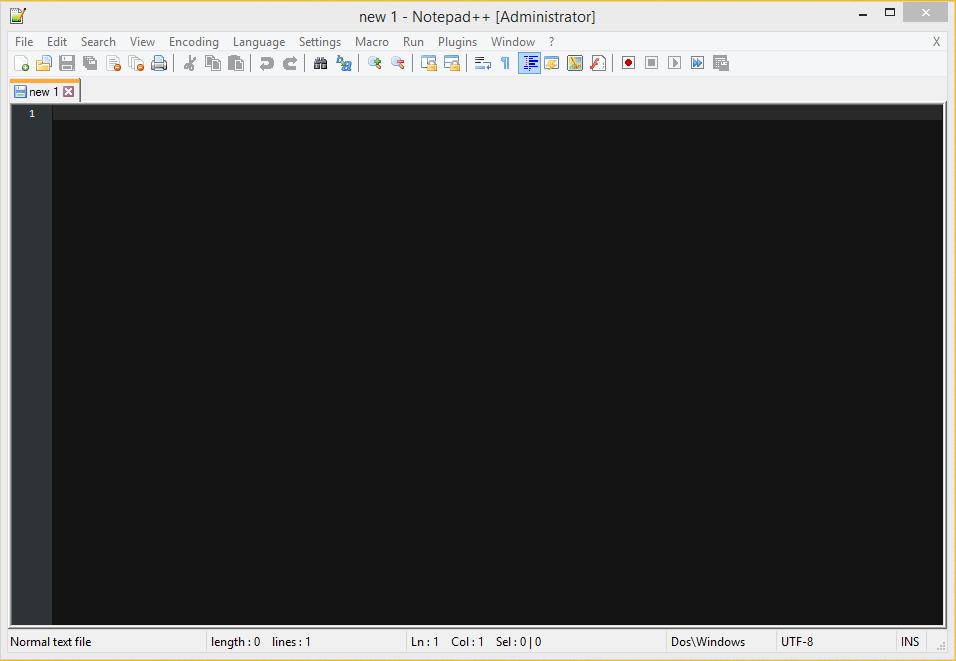 Notepad++ New Document Twilight