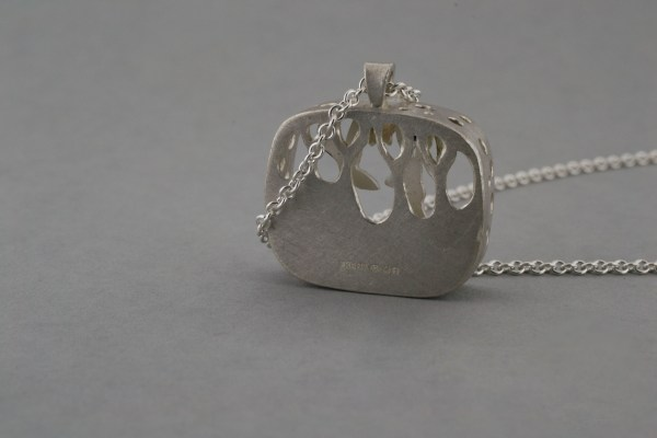 Back of hare pendant