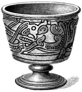 Copón funerario estilo Jelling.