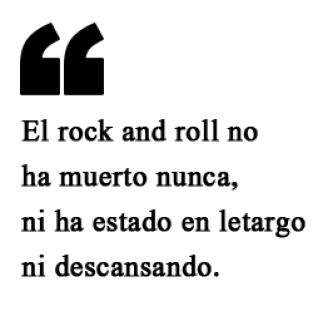 Exceso opina sobre la salud del rock.