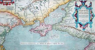 Mapa del mar negro