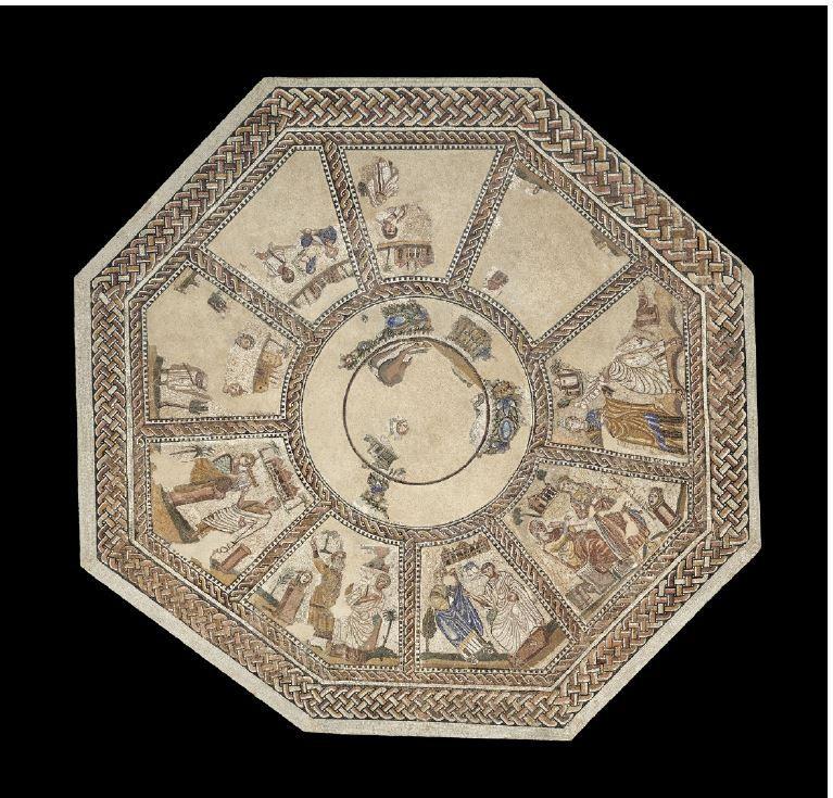 El mosaico de las musas se encuentra en el Museo Arqueológico Nacional
