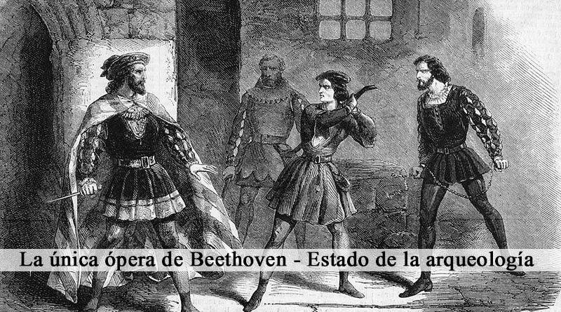Lámina de la ópera Fidelio, de Ludwig van Beethoven