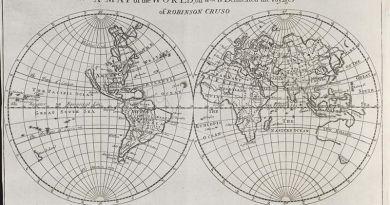 Mapas - literatura - Robinson Crusoe