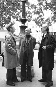 Eliade con amigos intelectuales