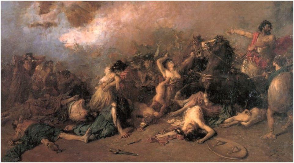 El último día de Sagunto, Francisco Domingo Marqués, 1869.