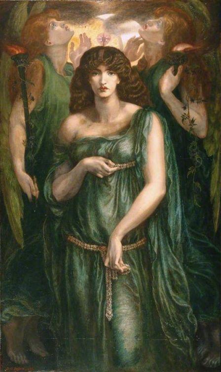 Dante Gabriel Rossetti, Astarté Syriaca, 1877. Fuente: https://es.wikipedia.org/wiki/Archivo:Astarte_Syriaca.jpg