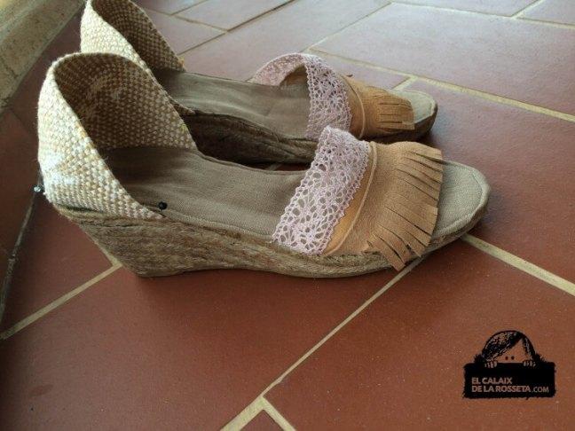 Sandalias (espardeñas) de esparto y piel