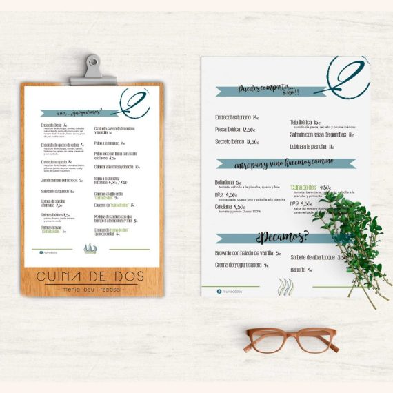 diseño gráfico menú restaurante benissa