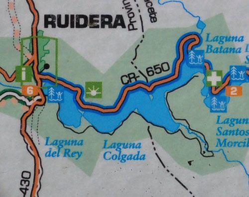 Mapa Ruta Lagunas de Ruidera