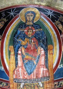 Fresco del ábside de la iglesia de Santa María de Taüll