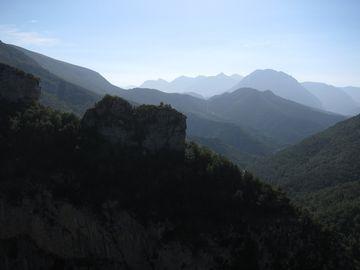 Vistas desde uno de los miradores de Escuaín