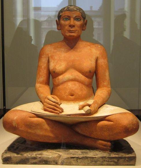 El Escriba Sentado. Museo del Louvre. Primera Planta.