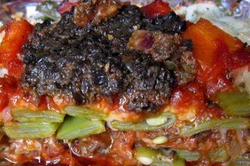 Gratinado de habicholillas con tapenade vegetariano