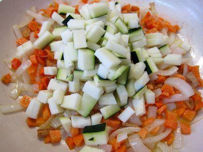 Pimientos verdes rellenos de quinoa con verduritas 07