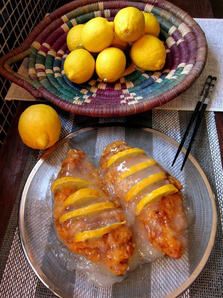 pollo al limón estilo chino