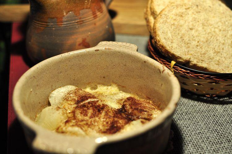 Nabos gratinados en mantequilla