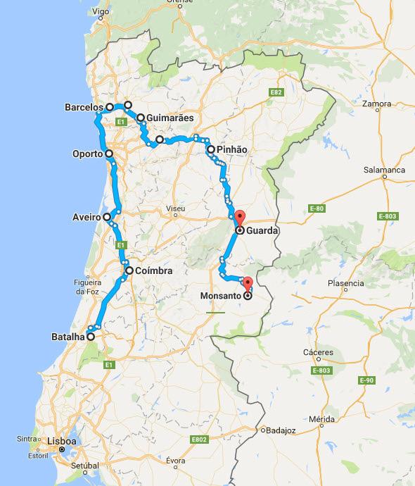 Norte De Portugal Mapa.12 Pueblos Y Ciudades Con Encanto Del Norte De Portugal El
