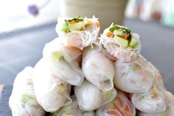 rollitos de verano vietnamitas (gỏi cuốn)