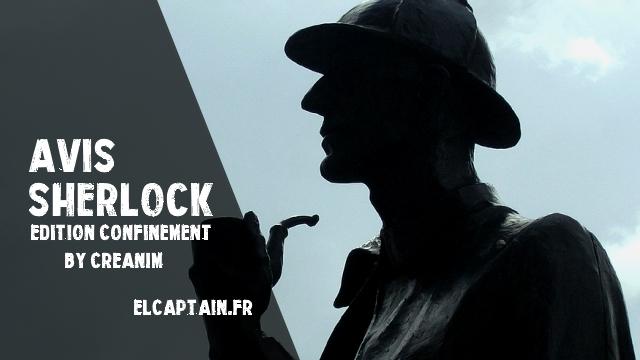 [Avis] Sherlock en Ligne – Special Confinement