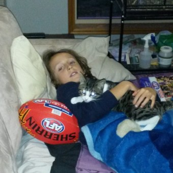 A boy and his cat...