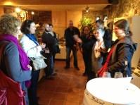 Amb blocaires a la recepció del Castell del Vi