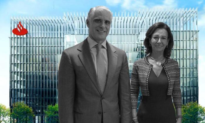 Andrea Orcel y Ana Botín