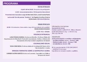 XX Encuentro intercultural de mujeres
