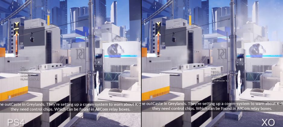 Comparación: Mirror's Edge en XOne y PS4