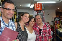 Xabier López, Yanet Acosta, Susana Noeda y Juan Seoane en la presentación en Vigo de Noches sin Sexo