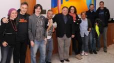 Yanet Acosta, Carlos Zanón, Claudio Cerdán, Jesús Pedreira, Impar Fernández (de izda a dcha) en Tu Santa Cruz Noir