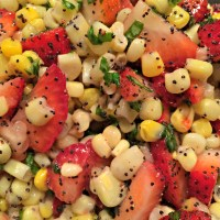 Strawberry and White Corn Salad