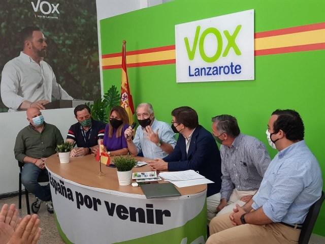 La cúpula de Vox en Canarias. Fuente: ElCierreDigital.com