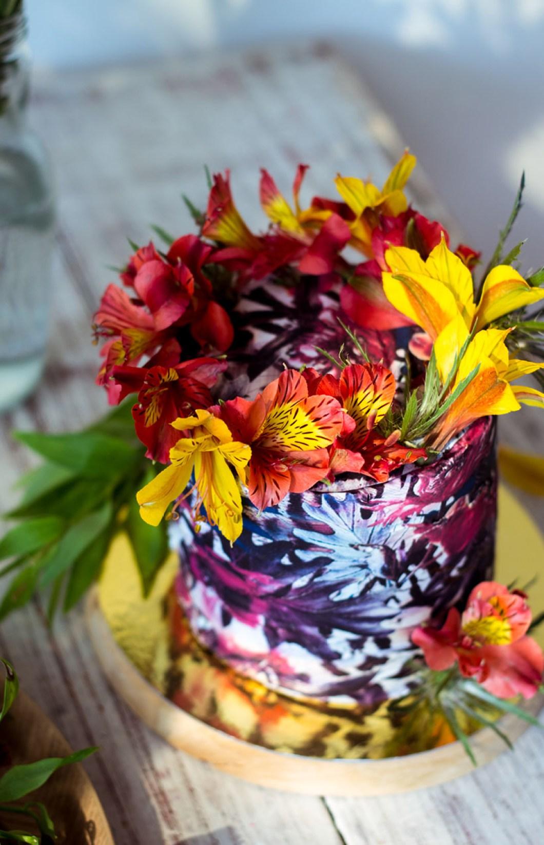 floral print cake 03
