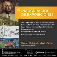 Inauguración  de exposiciones en el Museo Franklin Rawson