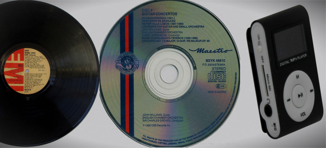 Discos de Vinilo vs. CDs vs, MP3… Moda con música mala.
