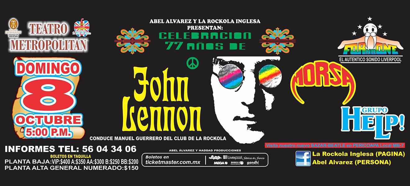 El Círculo Beatle y la Rockola Inglesa te invitan a un gran concierto