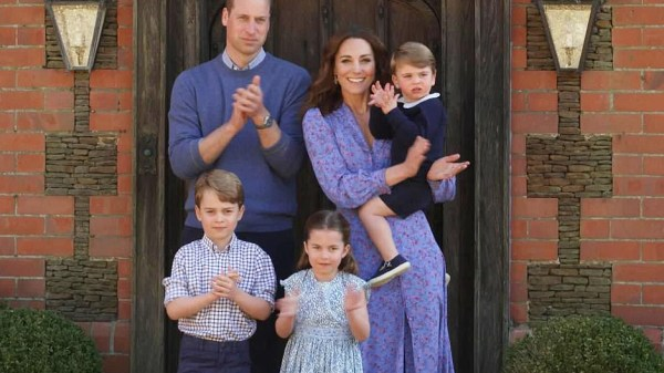 Príncipe William y Kate Middleton son padres de tres niños