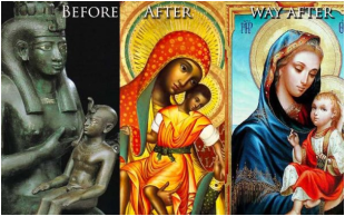 Meme Critique. Image of Black Madonna