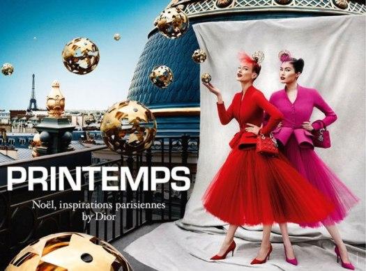 Para las fiestas Dior preparó esta campaña con fotos de Mario Testido, de las modelos Carolyn Murphy y Sui He Star. Qué les parece