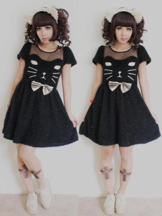 vestidos gatito