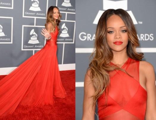 Lady in red, Rihanna (@rihanna) lleva un Azzedine Alaïa
