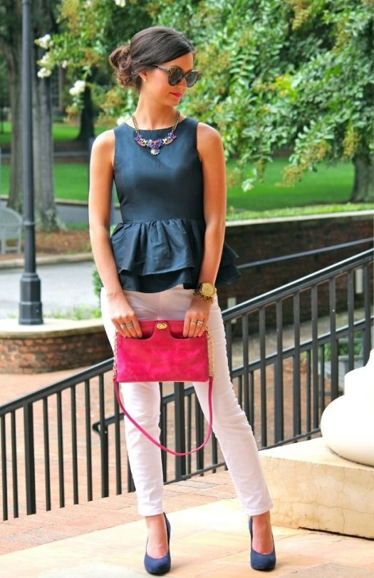 casual-peplum-work-outfit