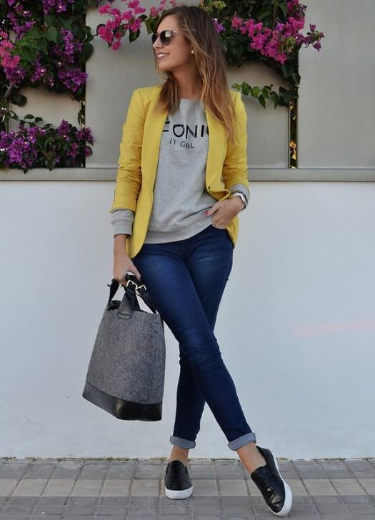 """7 formas de llevar un """"Blazer amarillo"""". – El Closet de Giuliana aafb23efc92e"""