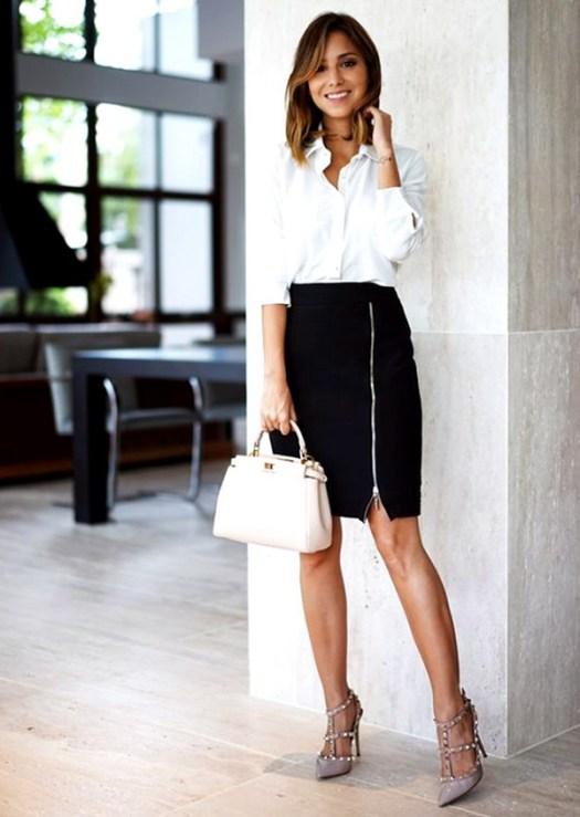 falda-negra-blusa-blanca