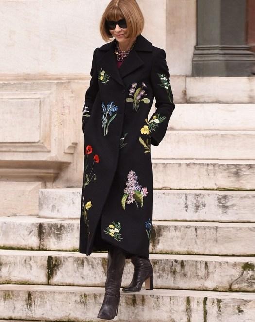 abrigo con flores
