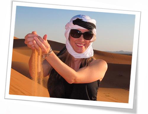 Victoria Bisogno visitando la ruta del té: viaje a Marruecos