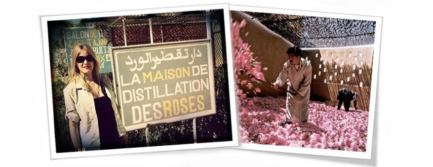 La maison de distillation desroses  en la ruta del té: viaje a Marruecos