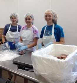 girls at Second Harvest
